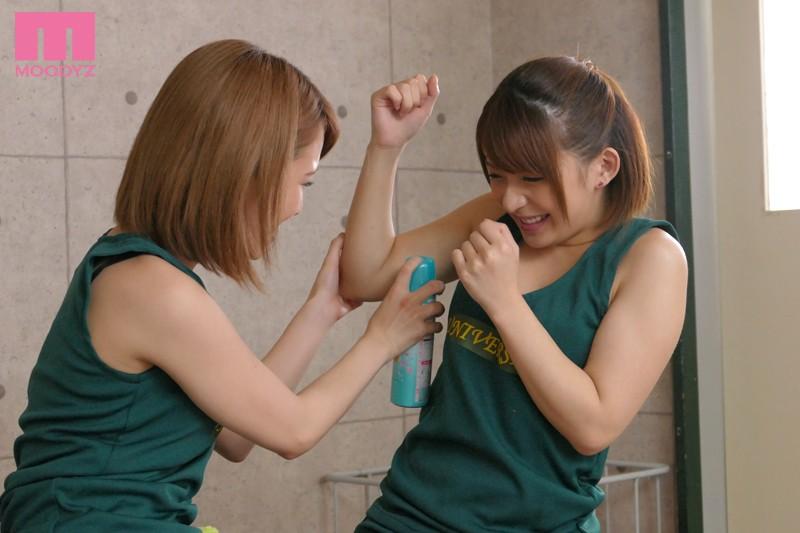 麻里梨夏と椎名そらにレズ責めされる画像6