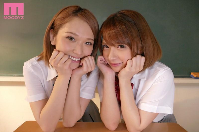 麻里梨夏と椎名そらにレズ責めされる画像1