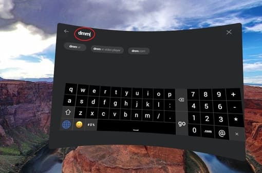 Oculus Goの検索画面