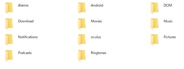 内部ストレージファイル