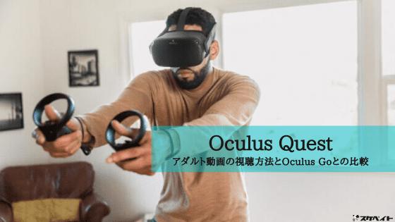 Oculus QuestでアダルトVR動画を視聴する方法とOculus Goとの違いを比較