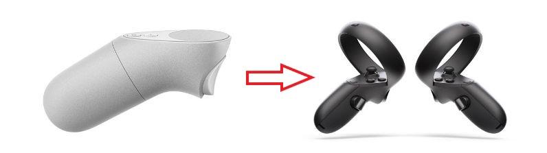Oculus GoとOculus Questのコントローラー