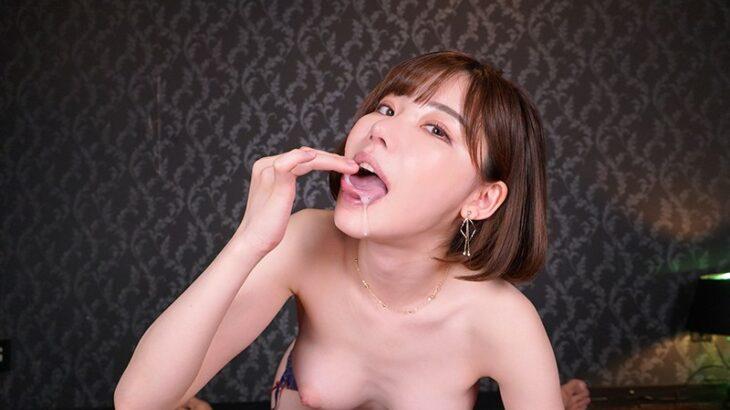 『誘惑お姉さん・深田えいみのいやらしい舌とよだれをた~っぷり味わえる濃厚接吻SEX VR!!』を視聴レビュー